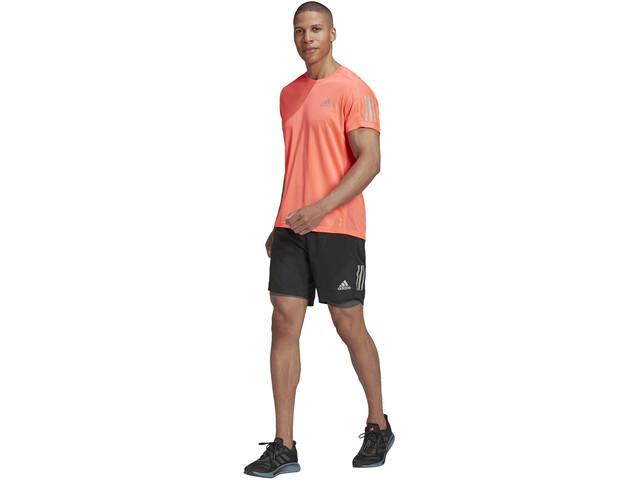 "adidas OWN The Run 2N1 Shorts 5"" Hombre, negro/gris"